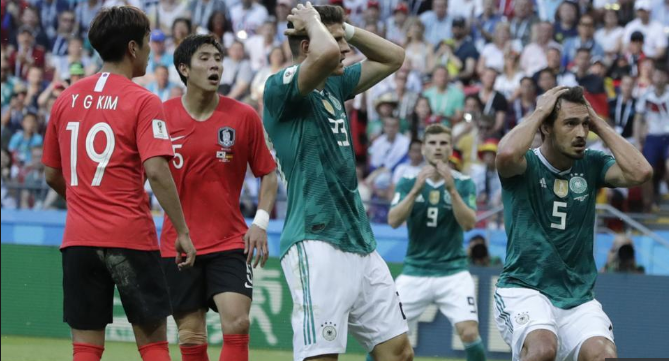 FIFA World Cup Germany Eliminated: South Korea beat Germany 2-0