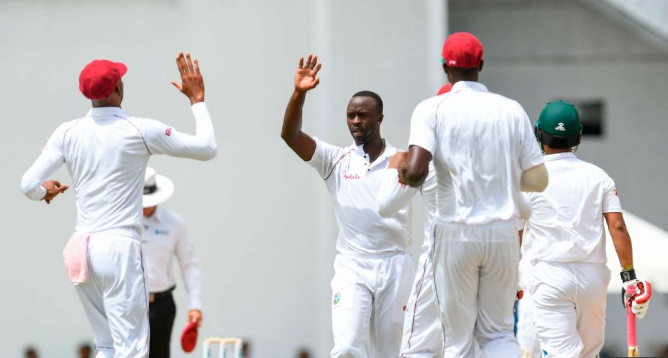 Bangladesh all out 43 runs against West Indies , K Roach picks up five wickets