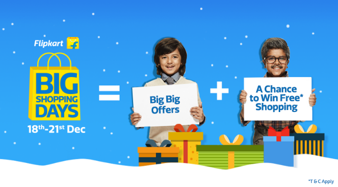 Flipkart Big Shopping days Sale start from 16 to 19 July