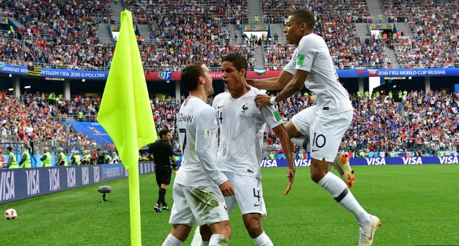 Griezmann , Varane help France beat Uruguay 2-0 to Enter Semifinals