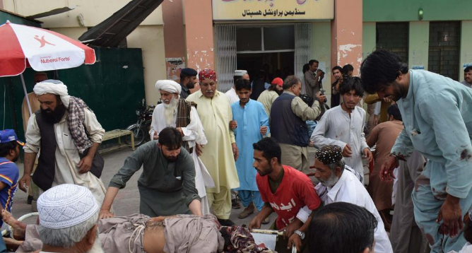 Pakistan Election Rally 133 Killed, more than 300 injured in Twin Blasts