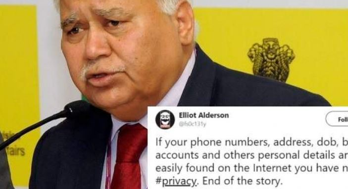 TRAI Chief RS Sharma Share the Aadhar Number in Twitter, Challenged to Hackers