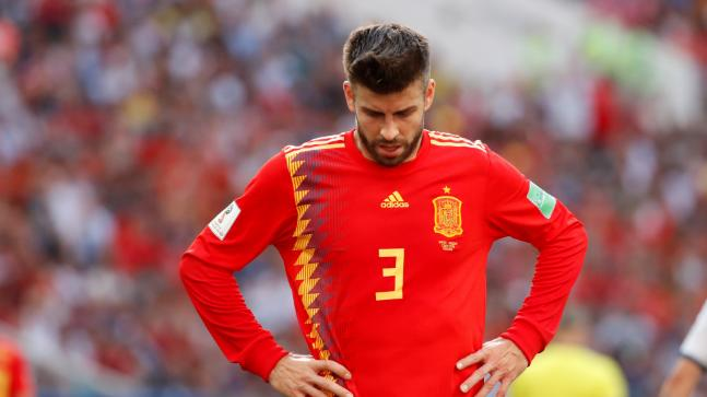 Barcelona Defender Gerard Pique confirmed retirement from Spanish National Team