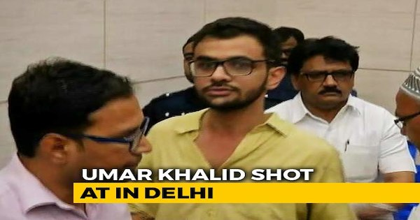 JNU Students Umar Khalid Shot at in high security area in Delhi, Unhurt