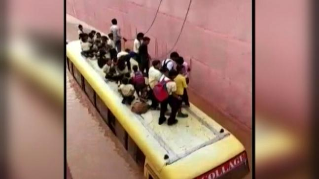 Rajasthan villagers Rescue 50 students from bus