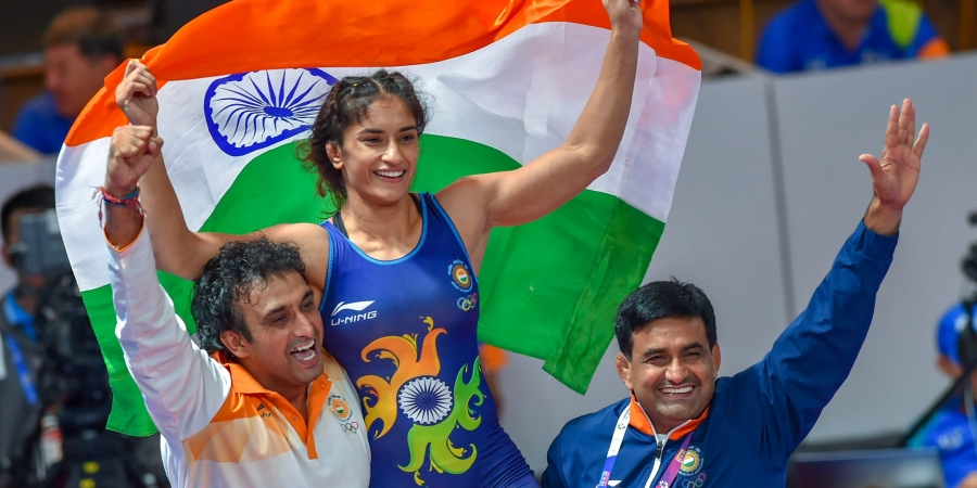 Vinesh Phogat got engaged at Delhi Airport on return from Asian Games 2018