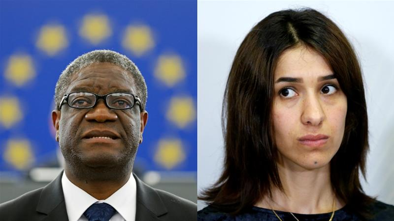 Denis Mukwege and Nadia Murad win Nobel Peace Prize for anti Rape Activities