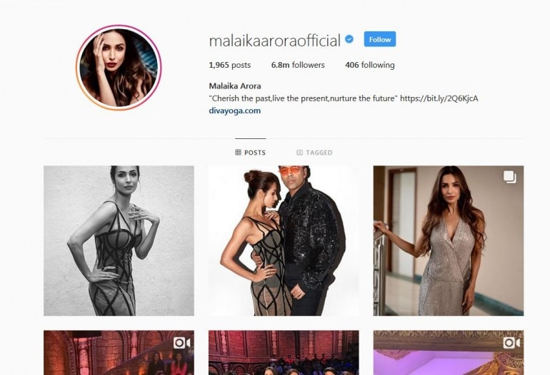 Malaika Arora Removes Khan from her name on Instagram