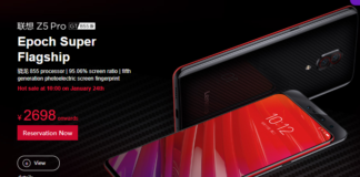 Lenovo Z5 Pro with Snapdragon 855, Full Specification and Price