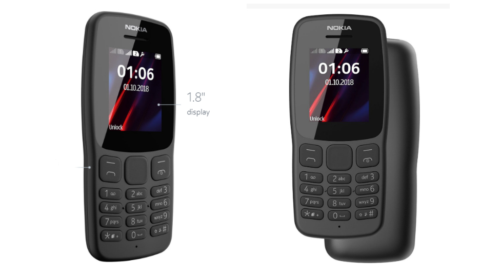 Nokia 106 Launched with 800mAh Battery for Rs 1299