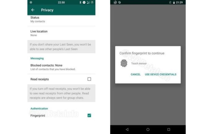 WhatsApp will add Fingerprint Authentication for protecting Chats