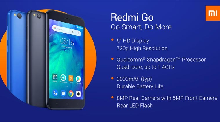Xiaomi Redmi Go Price in India, Full Specifications