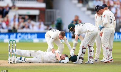 Steve Smith ruled out of the 2nd Ashes 2019 Test with a concussion