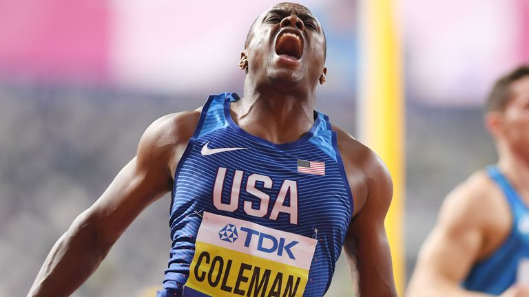 World Athletics Championships: Christian Coleman wins 100m gold in 9.76 Seconds