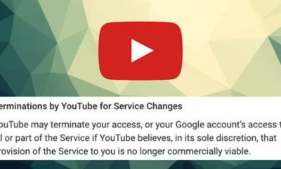 YouTube may delete your account if It's not Commercially Viable