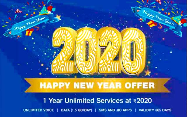 Reliance Jio announced Happy New Year 2020 plan with 12 months of unlimited usage