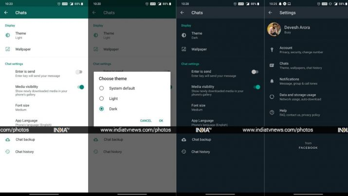 WhatsApp Dark Mode Finally available for Beta users on Android