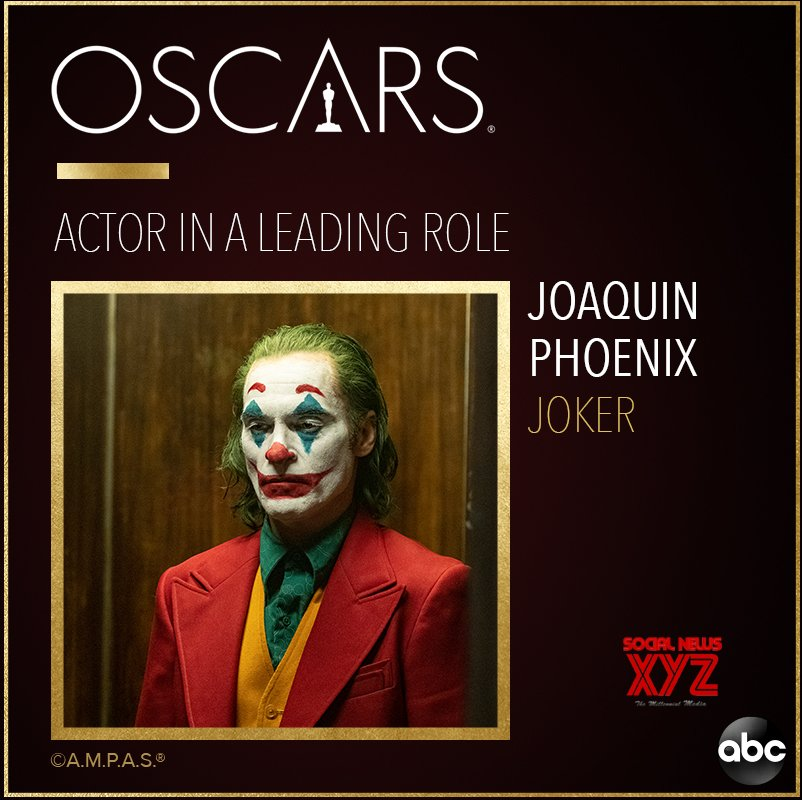 Oscars 2020: Joaquin Phoenix wins the best actor for 'Joker'