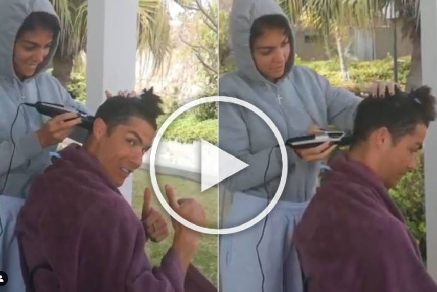 Cristiano Ronaldo Gets a New Haircut From Girlfriend Georgina Rodriguez in COVID-19 Lockdown