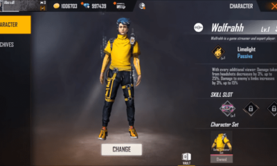Free Fire Update: What You Need to Know About New Character, Wolfarhh, Background etc