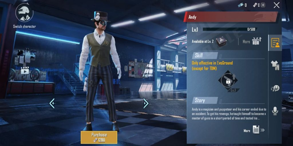 PUBG Mobile: New Character Andy who is a master of guns with top combat skills