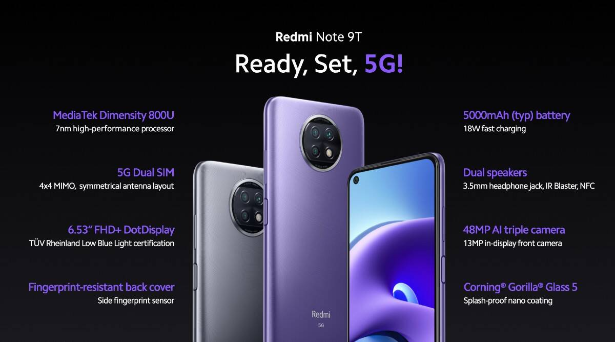 Xiaomi Redmi Note 9T 5G Launch Worldwide: Check Price & Specifications